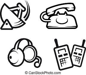 kommunikation, symbole