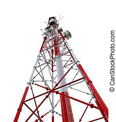 kommunikation tårn, hos, antenner