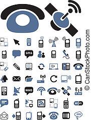 kommunikation, vektor, zeichen & schilder