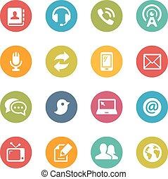 kommunikationer, iconerne