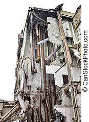 kommunikatsiy., belső, épület, ipari, maradványok, lerombol