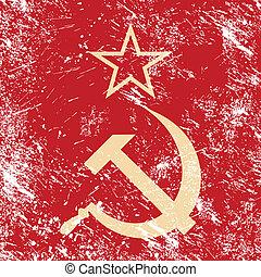 kommunismus, gewerkschaft, -, cccp, retro, sowjetisch