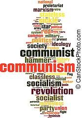 kommunismus, wort, wolke