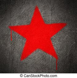 kommunista, csillag, piros