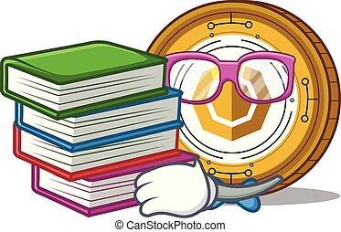 komodo, コイン, 漫画, 学生, マスコット