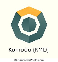 Komodo (KMD). Vector illustration crypto coin ico