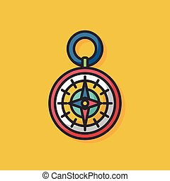 kompaß, reise, vektor, ikone