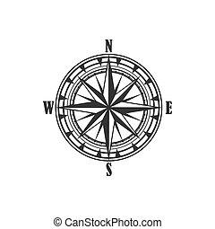kompaß, weinlese, symbol, zeichen