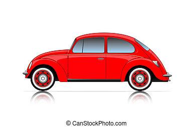 kompakt bil, röd