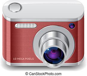 kompakt, fotografi kamera, ikon