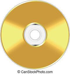 kompakt, goldenes, scheibe