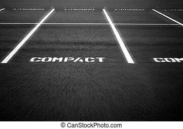 kompakt, los, parken