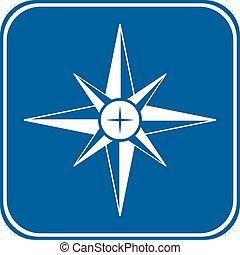 kompass, knapp