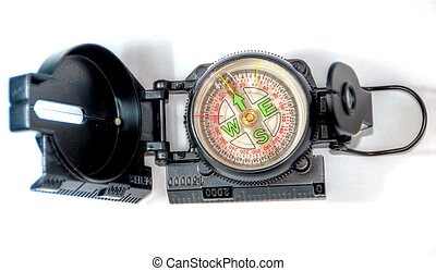 kompass, vita, bakgrund