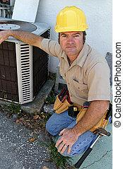 kompetent, ac, repairman