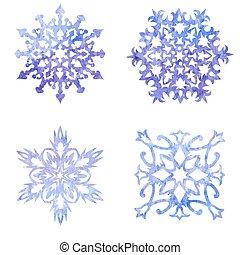 komplet, boże narodzenie, płatki śniegu