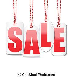 komplet, cena, etykiety, zakończyć sprzedaż, wektor, ...