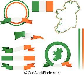 komplet, chorągiew, irlandia