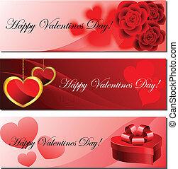 komplet, chorągiew, valentine