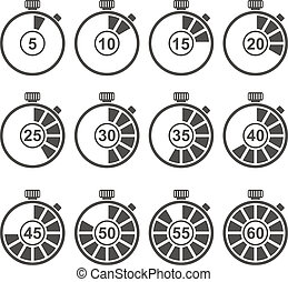 komplet, chronometrażysta, ikona