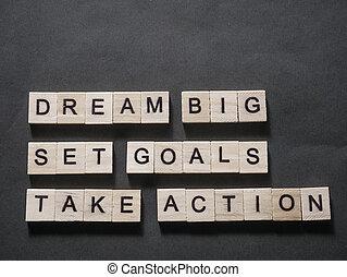 komplet, cielna, cele, czyn, sen, wziąć