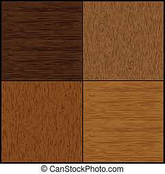 komplet, drewno, seamless, backgrounds., wektor