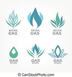 komplet, gaz, ikony