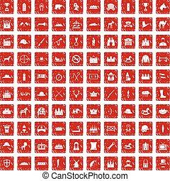 komplet, grunge, ikony, 100, jazda konna, czerwony