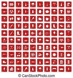 komplet, grunge, ikony, warzywa, 100, czerwony