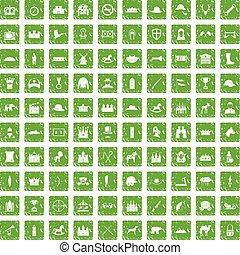 komplet, grunge, ikony, zielony, 100, jazda konna