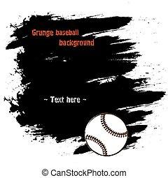 komplet, grunge, ręka, baseball, pociągnięty, chorągwie