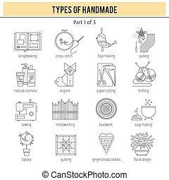 komplet, handmade, typy