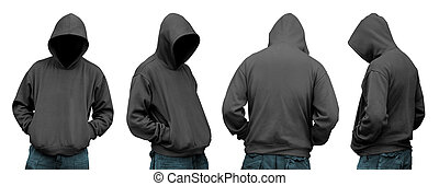 komplet, hoodie, człowiek