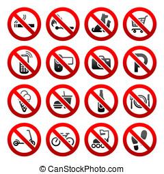 komplet, ikony, zabroniony, symbolika, sklep, znaki