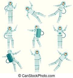 komplet, illustration., taniec, mężczyźni, powaga, ...