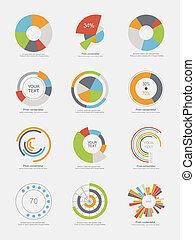 komplet, info-graphic, wykresy, sroka