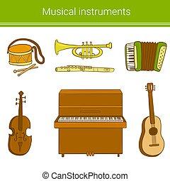 komplet, instruments., muzyczny