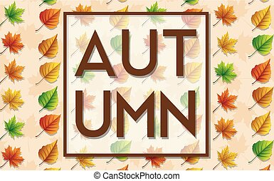 komplet, liście, odizolowany, jesień, tło, biały