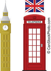 komplet, londyn, powinowaty, vectors