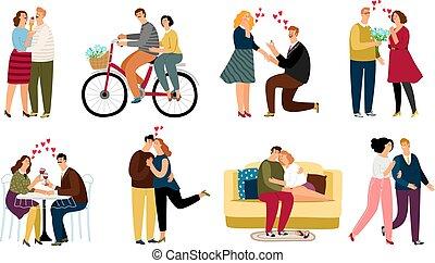 komplet, miłość, ludzie