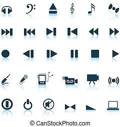 komplet, muzyczny, ikony
