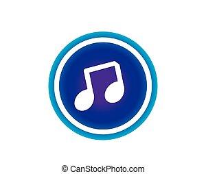 komplet, muzyka, ilustracja, ikona