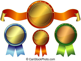 komplet, nagrody, metaliczny