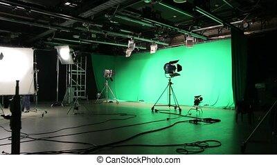 komplet, oświetlenie, film