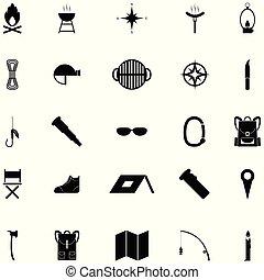 komplet, obozowanie, ikona