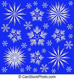komplet, od, płatki śniegu