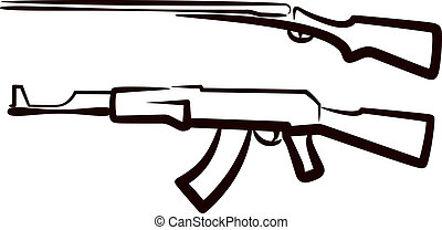 komplet, od, pistolety
