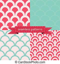 komplet, od, seamless, geometryczne wzory