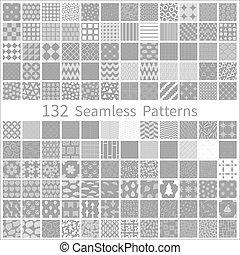 komplet, od, semless, wzory