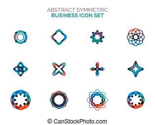 komplet, od, wektor, abstrakcyjny, modeluje